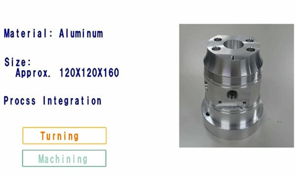 M140X2 Machining example (Aluminium)