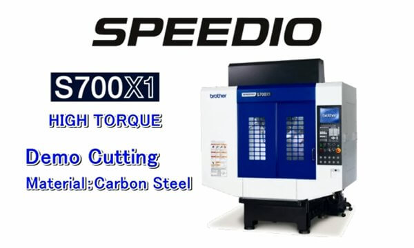 S700X1 high torgue Machining example (steel)